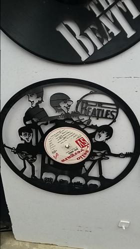 Vinyl LPs are laser cut to various scenes