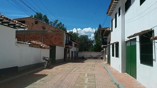 Brick and stone street