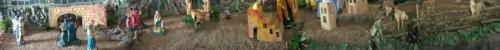 Nativity scene, about 50' long