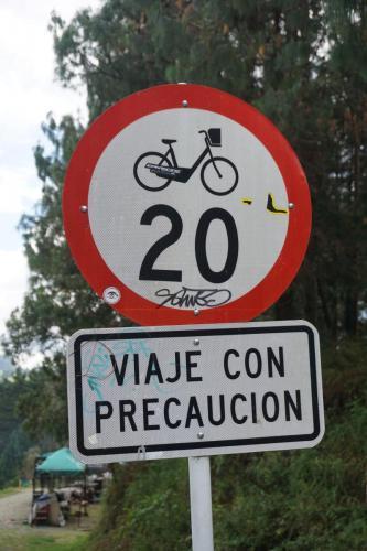 Bike Speed Limit Sign in Arvi Park