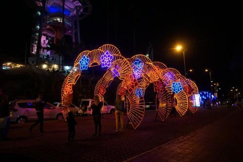"Manizales Holiday Lights ""tunnel"""