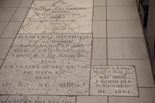 Tombs in church