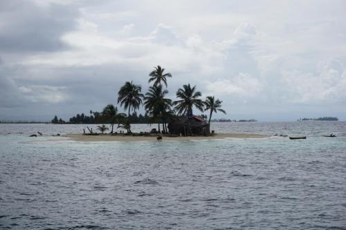 Small San Blas Island taken from our sailboat.