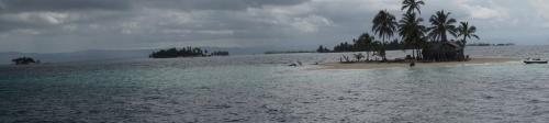 Panorama shot of islands