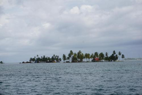 One of the islands; some people live on this island.