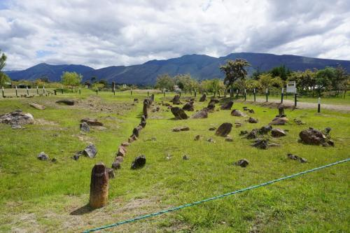 Stones that have been righted, used for tracking the seasons