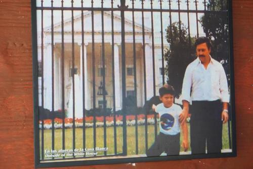 Photo of Pablo Escobar in front of White House