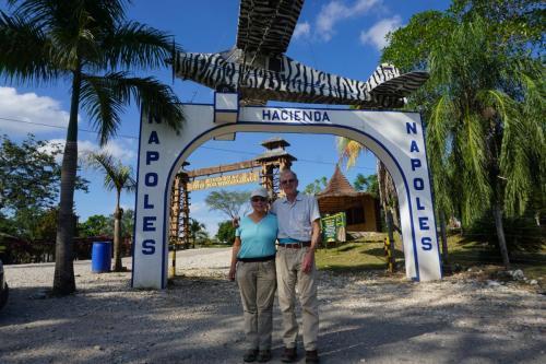 Dan and Lindie at entrance to Haciendo Napoles