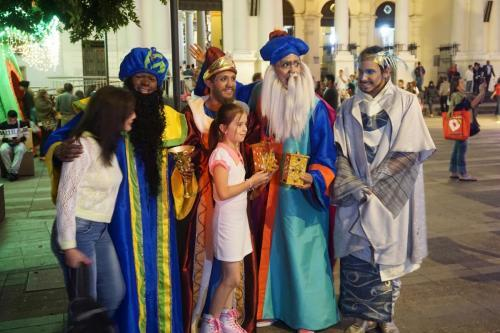 Wise men posing with people