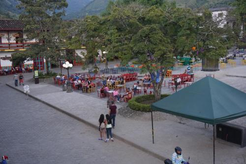 Vibrant plaza