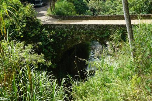 Old bridge over river
