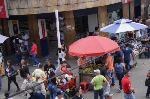 Vibrant market area