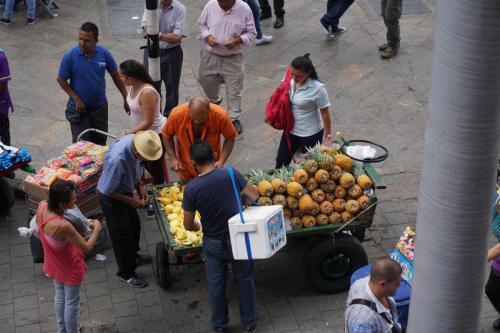 Downtown near Botero Park, Medellin