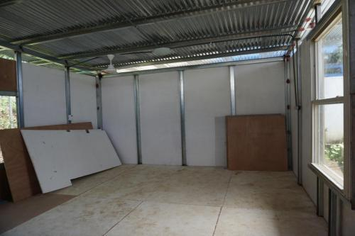 New classroom is almost ready to use. Wiring will be exposed.