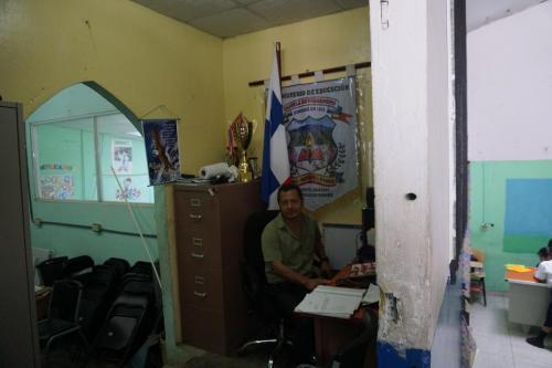 Candelario in his office