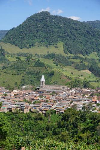 Jardin Church from mountain