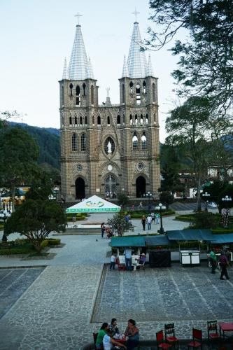 Jardin Church is on one side of the plaza