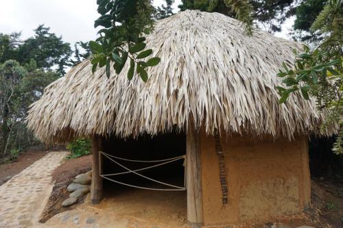 Replica hut at Parque Arvi