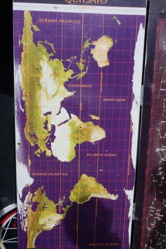 World Map similar to true globe