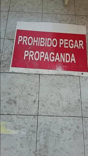 Forbidden to take advertisement (propaganda means advertisement)