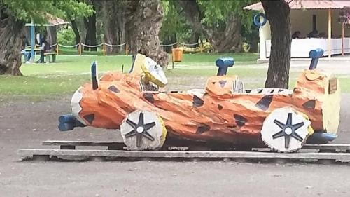 Flinstones type car to climb on