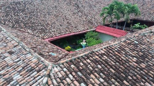 View of roof and courtyard