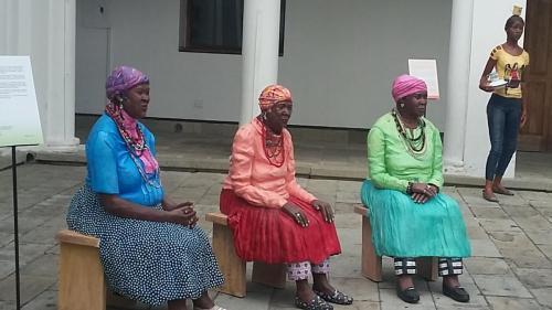 Ladies talking/resting