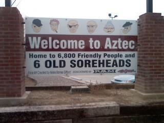 Aztec NM Sign