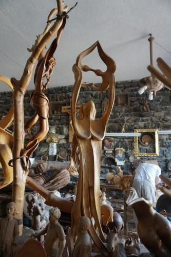 Carving in shop
