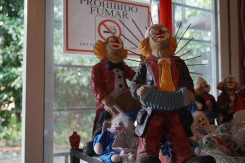 Clown statues at Lita's