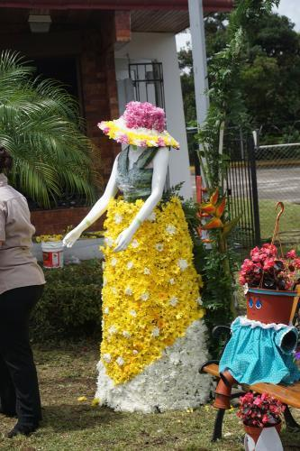 Maiden made of flowers in Volcan