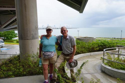 Lindie and Dan in front of Bio Museum