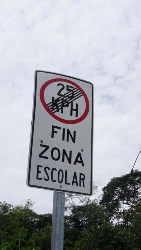 End of School Zone Sign