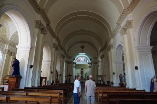 Granada Church with Dan and Tour Guide Gustavo
