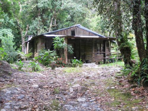 Rustic house on the property by gardens/trout pond