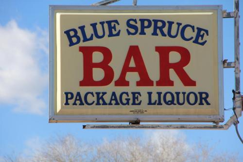 Another Blue Spruce Sign