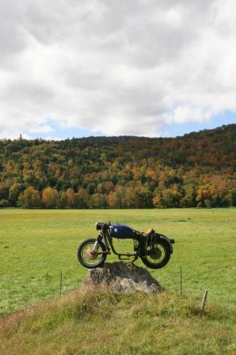 Motorcycle on a Rock