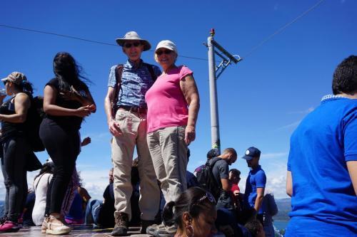 Dan and Lindie on the very top step