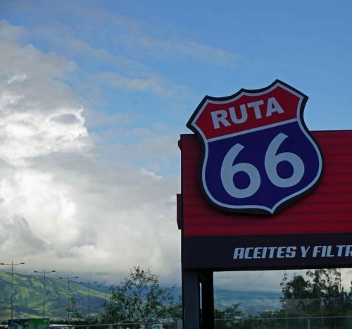 Route 66 sign in Quito