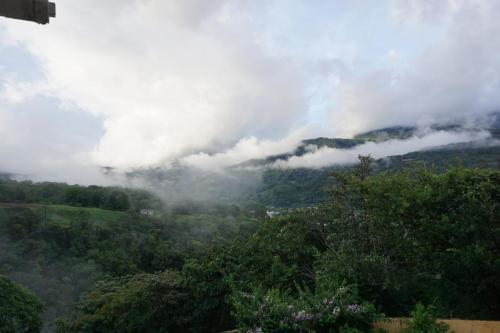 View from Vista Grande with low clouds